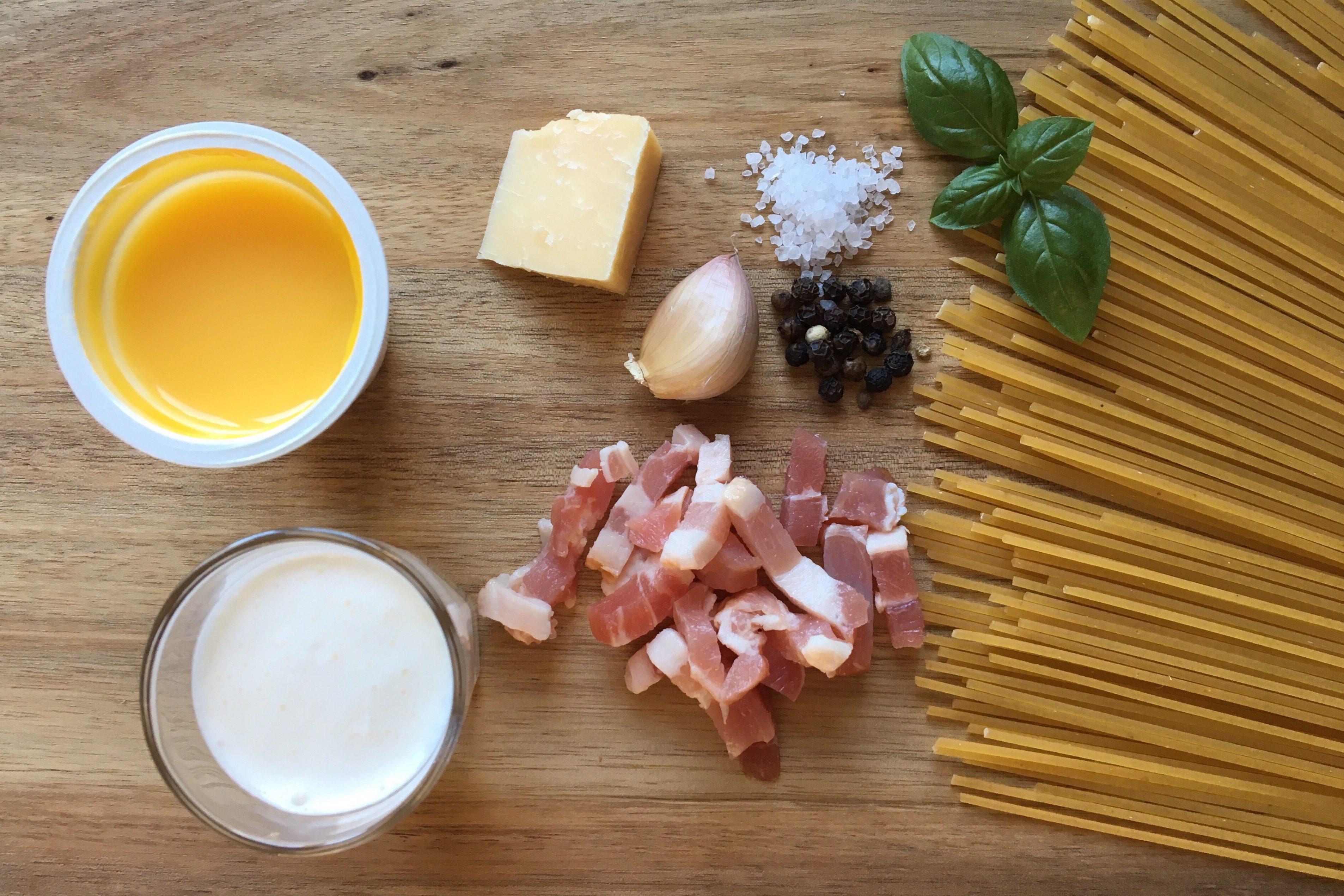 Ingredienser Spaghetti Carbonara