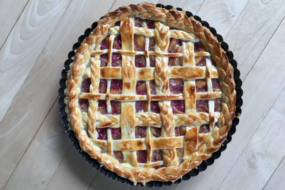 Peach melba tærte