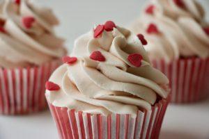 Kirsebærcupcakes