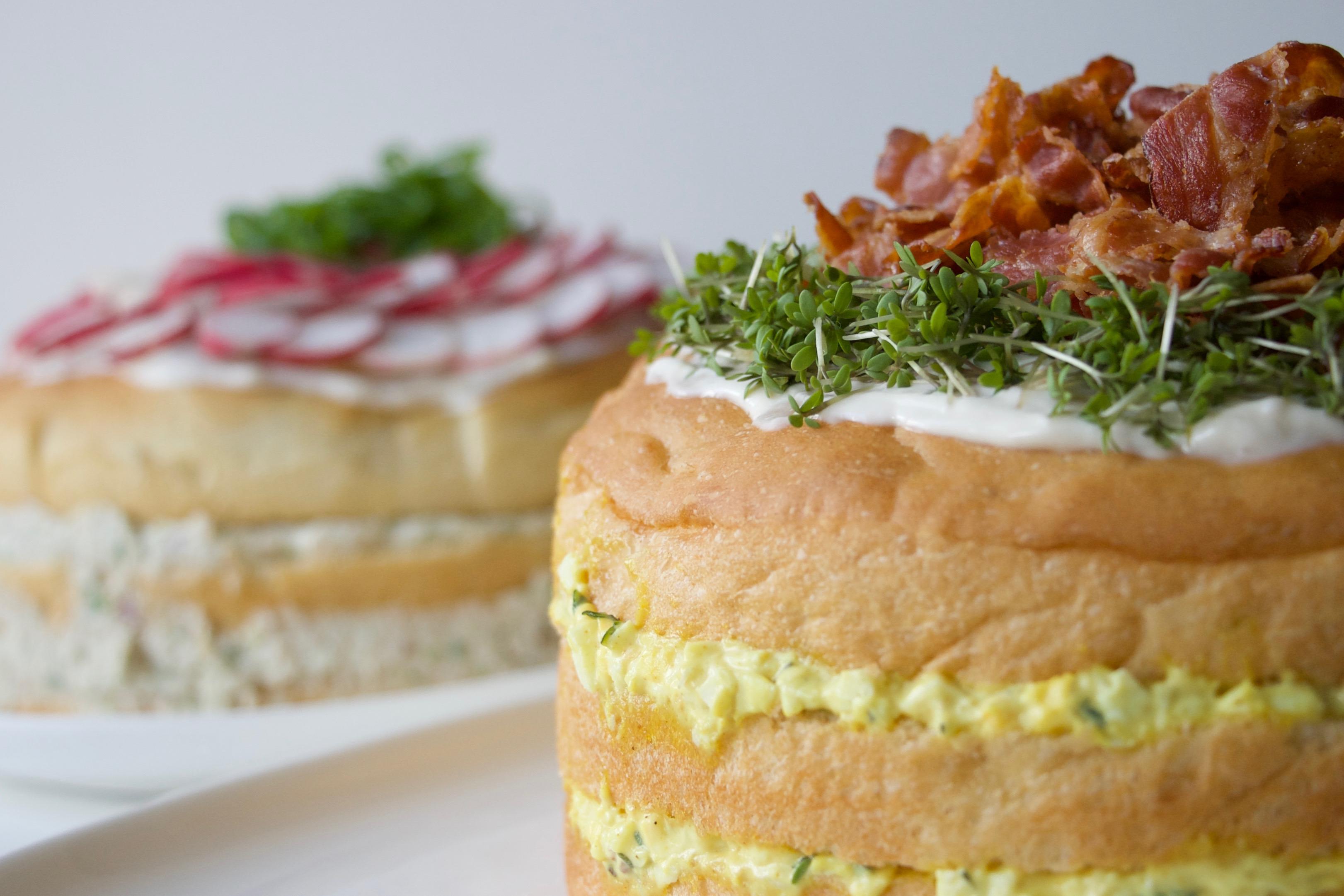 Lagkagesandwich