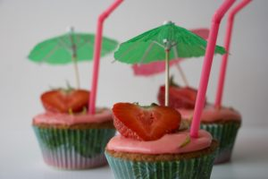 Stawberry daiquiri cupcakes