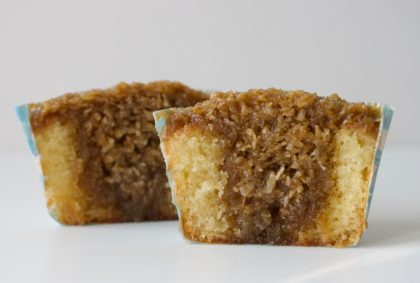 Mille Marie muffins - drømmekage med marcipan