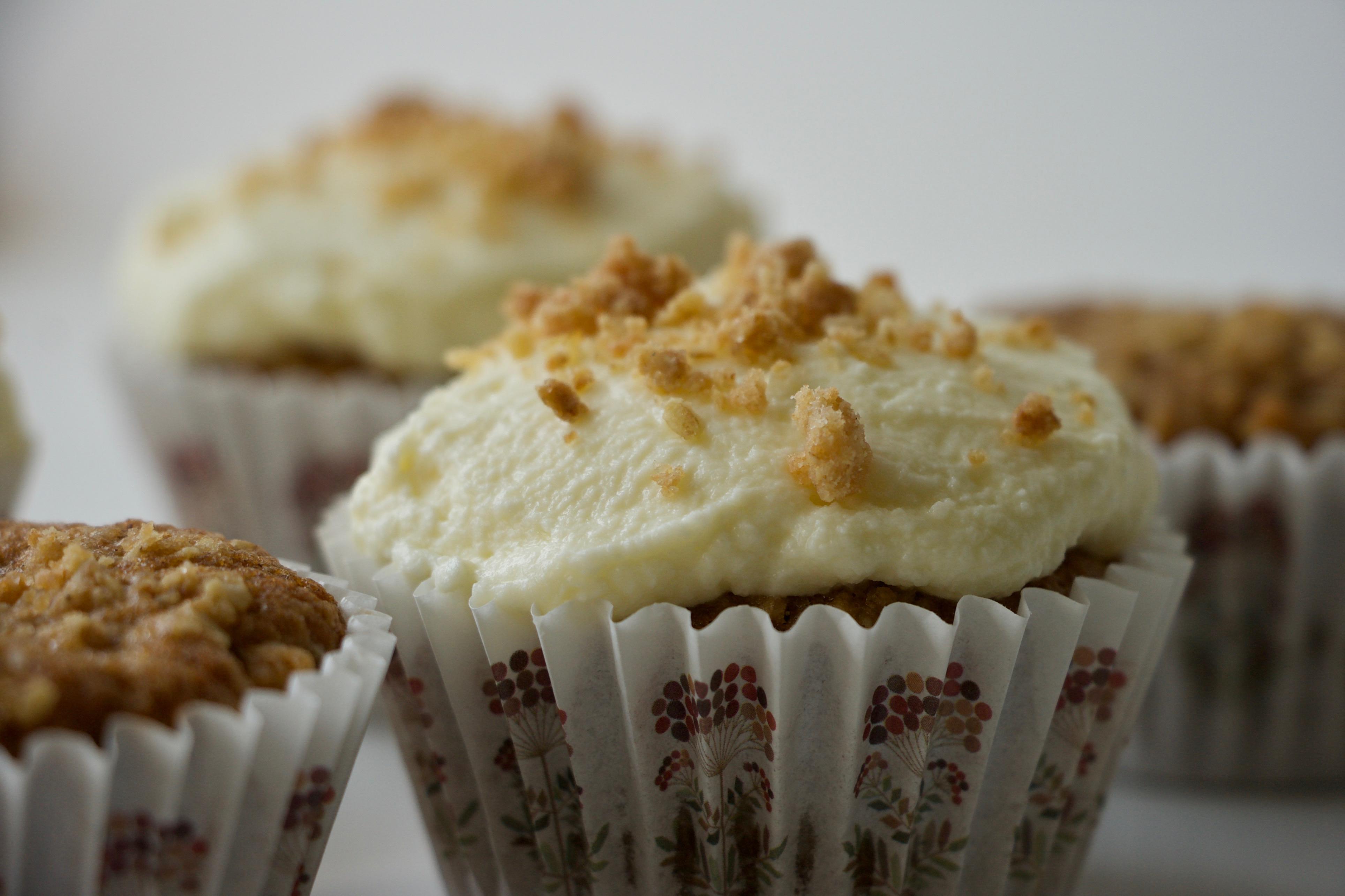 Æblecrumble cupcakes