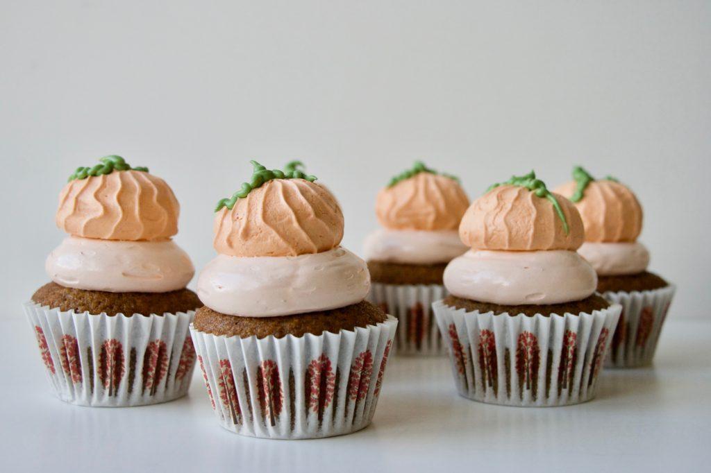 Græskarcupcakes