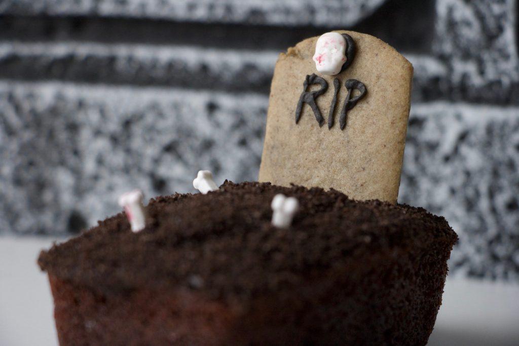 Zombiegrav - chokoladekage