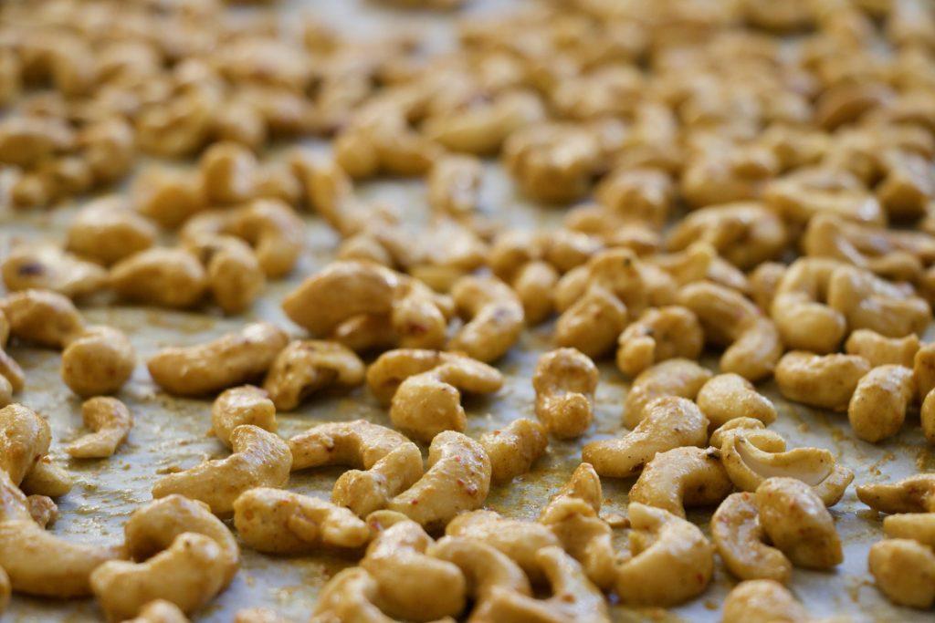 Krydrede cashewnødder