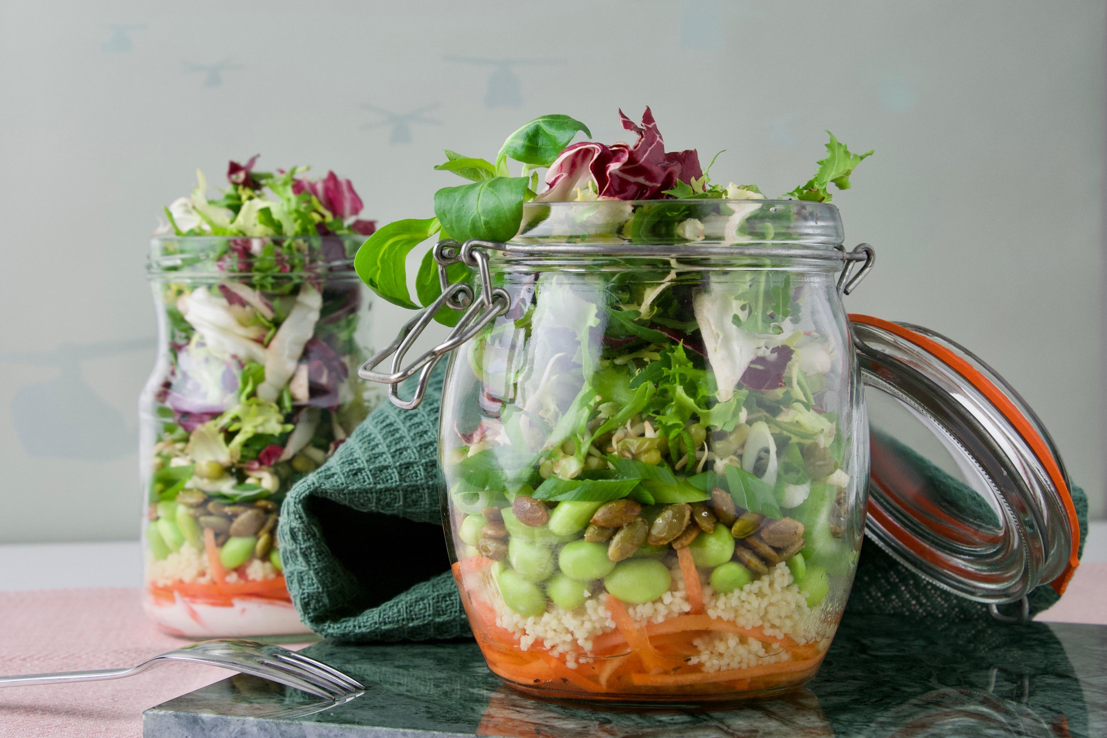 Salat i glas – vitaminer til madpakken og øjnene