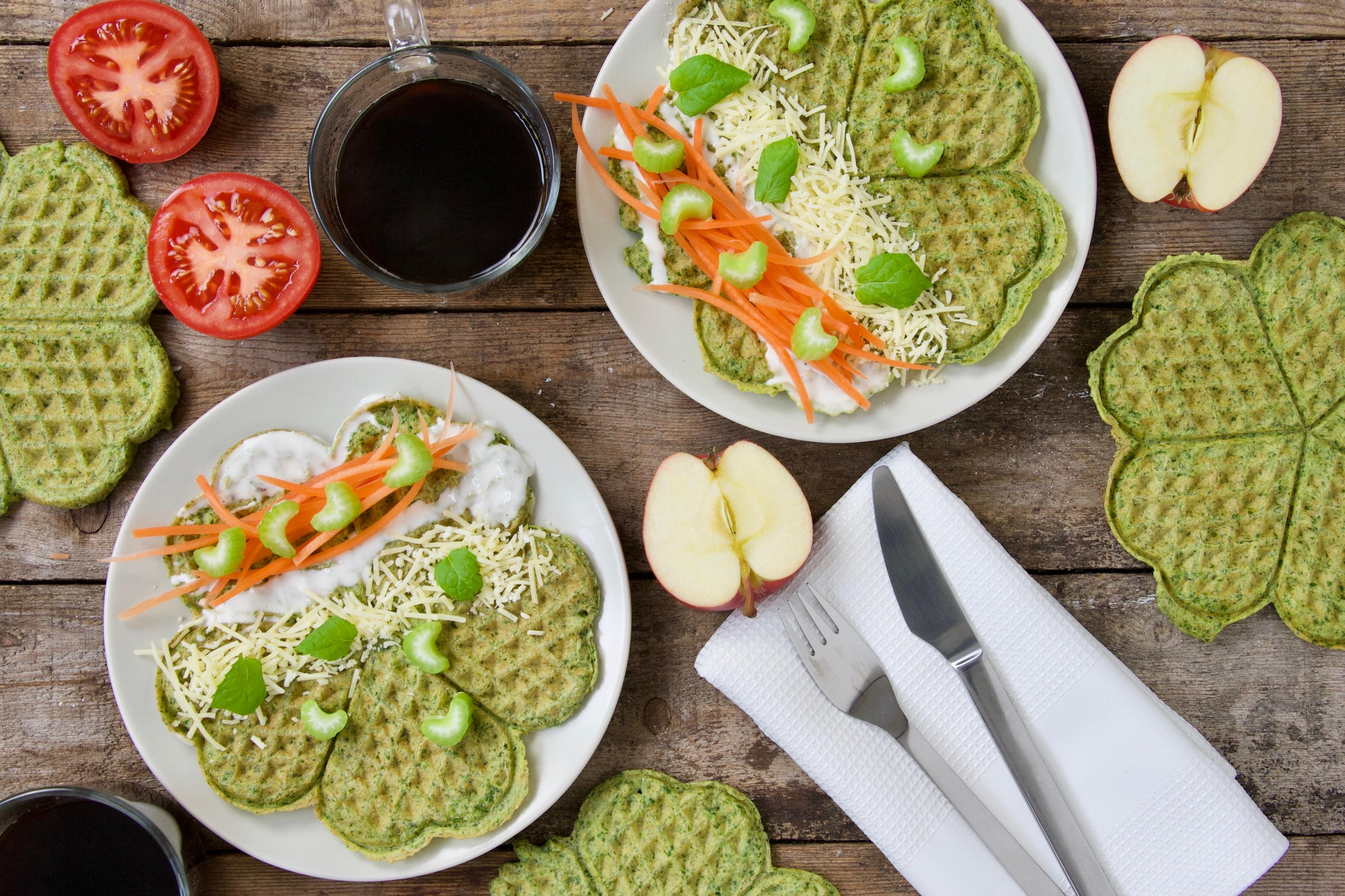 Spinatvafler – sundt på alle tider af døgnet