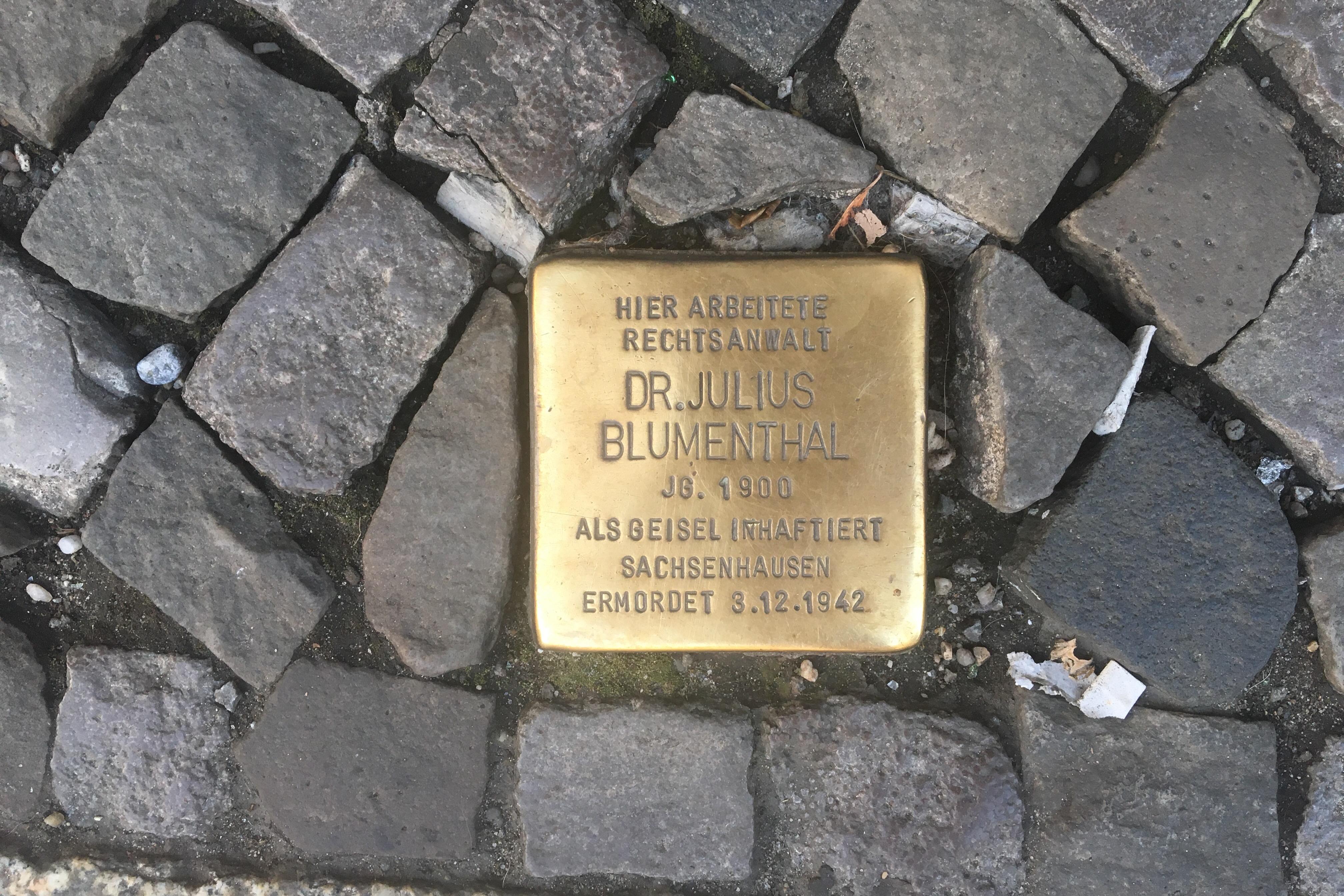 Yndlingssteder i Berlin, Stolpersteine