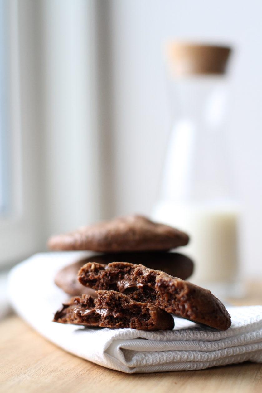 Nutellacookies - de allerbedste, du har smagt! Fra Bagvrk.dk.