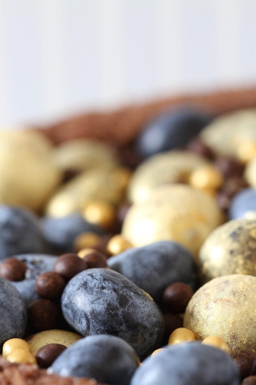 Blåbær, chokolade og guldkugler - pynt fra Bagvrk.dk