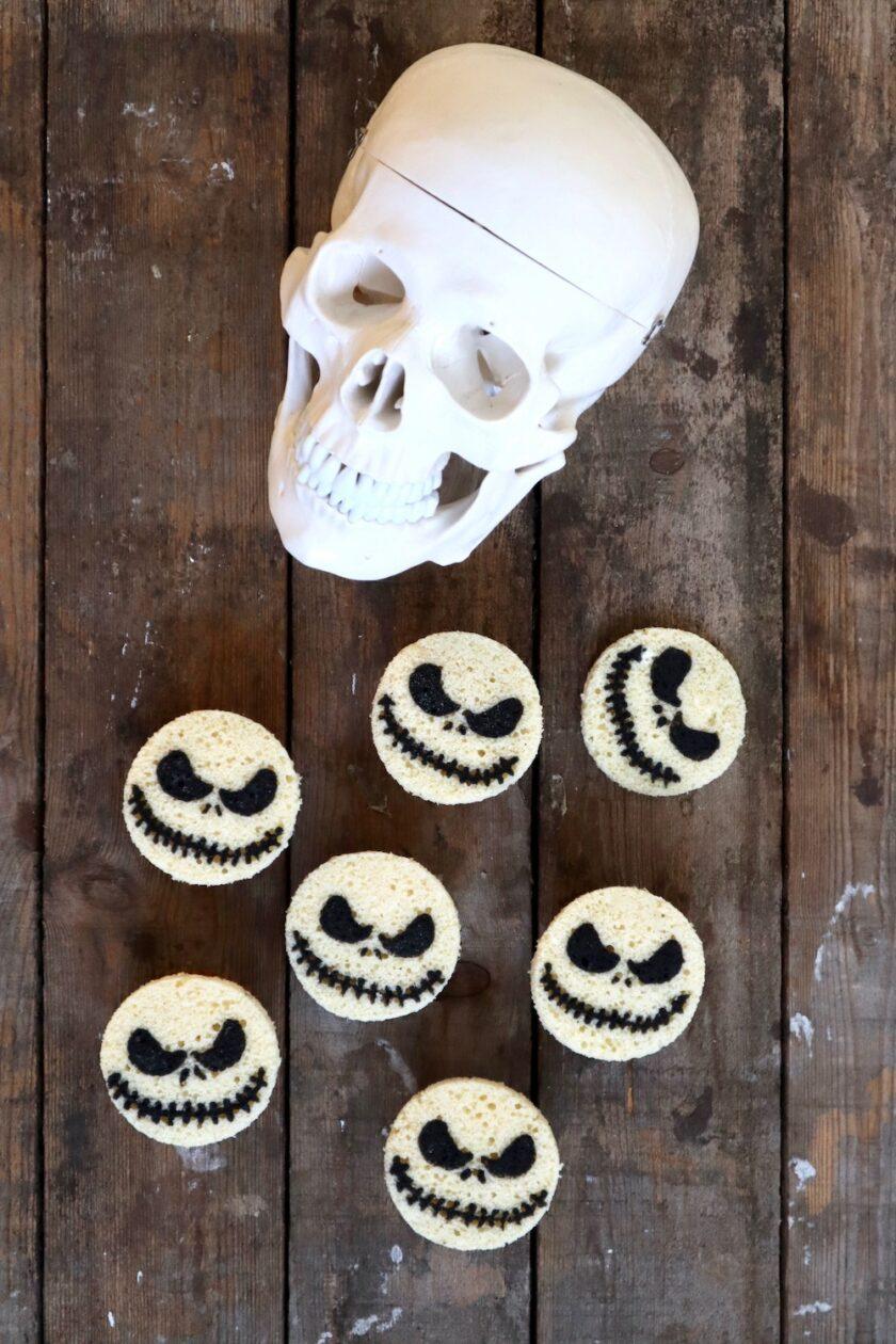 Jack Skellington på gulerodsmuffins Halloween Bagvrk.dk