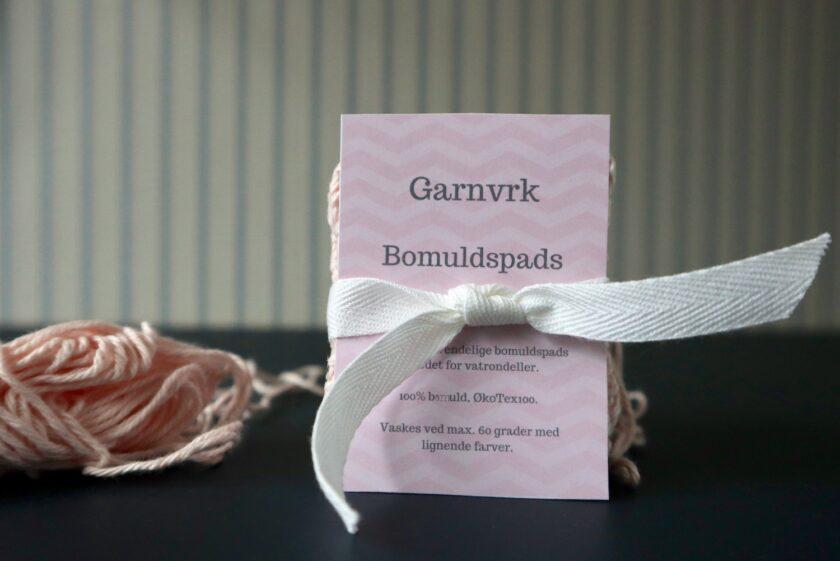 Garnvrk bomuldspads med garnnøgle Bagvrk.dk