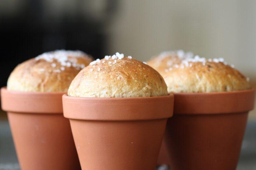 Dekorative pottebrød brød bagt i urtepotte Bagvrk.dk