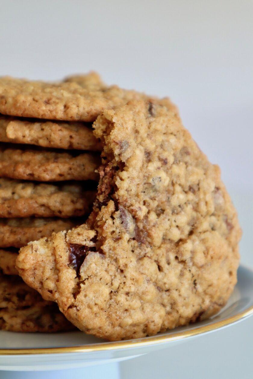 En stak havregryncookies supernemme at bage Bagvrk.dk
