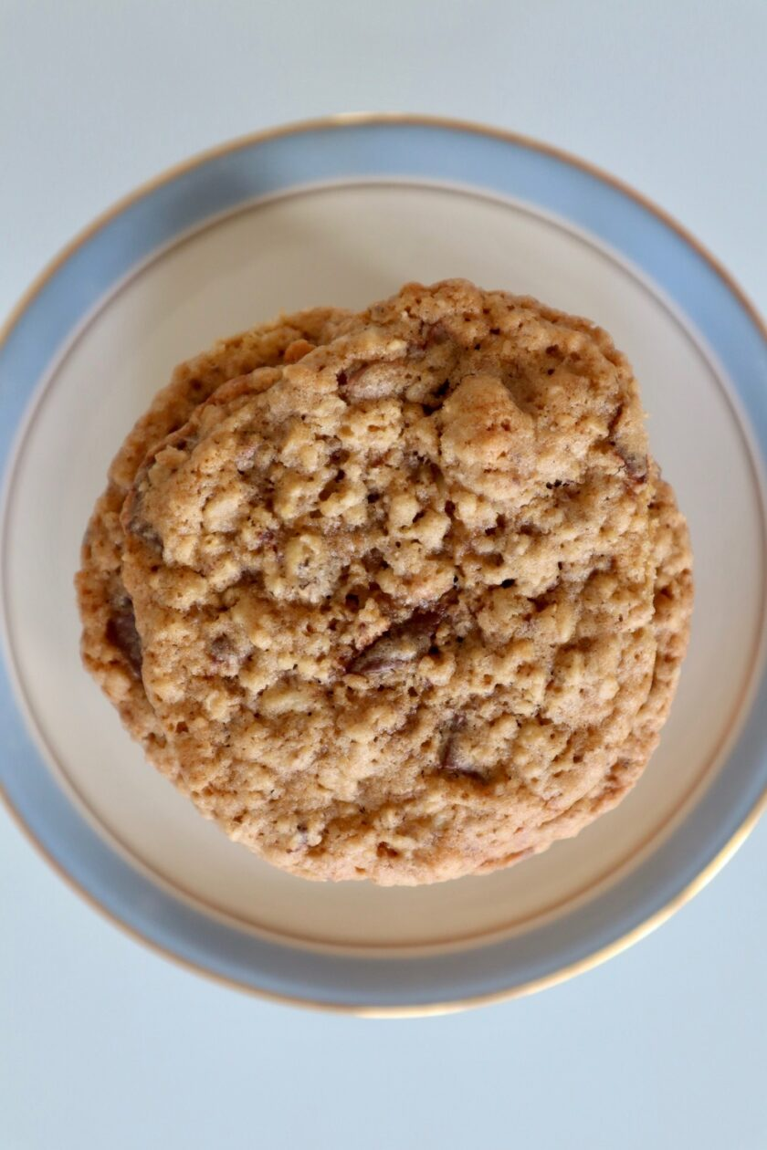 Havregryncookies set oppefra Bagvrk.dk