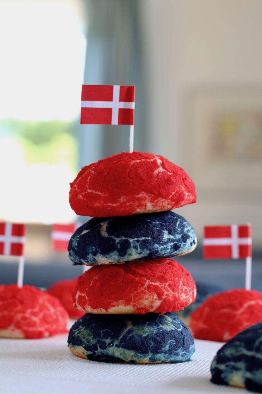 Røde og blå sandwichboller Bagvrk.dk